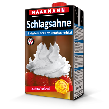 UHT whipping cream, 32% - Naarmann
