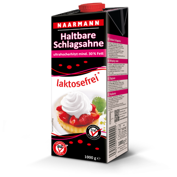 UHT whipping cream, 30%, lactose-free - Naarmann