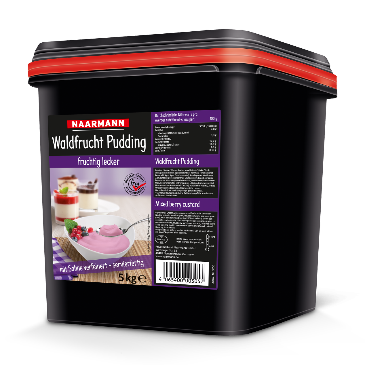 Waldfrucht Pudding