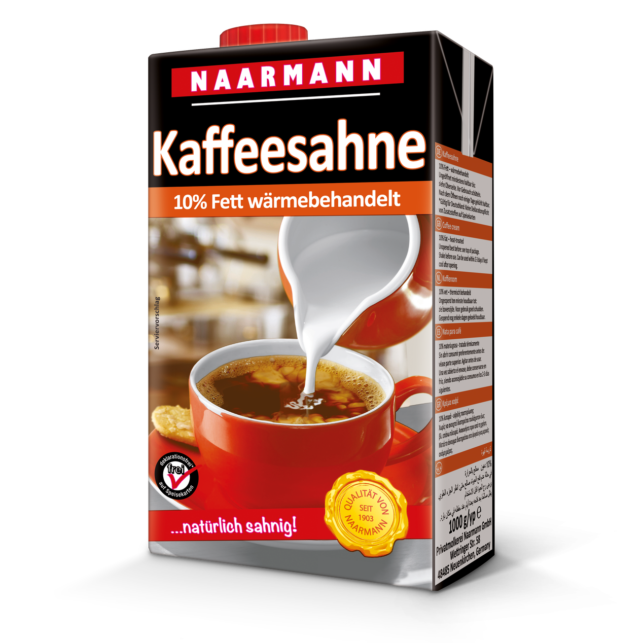Coffee cream, 10% - Naarmann